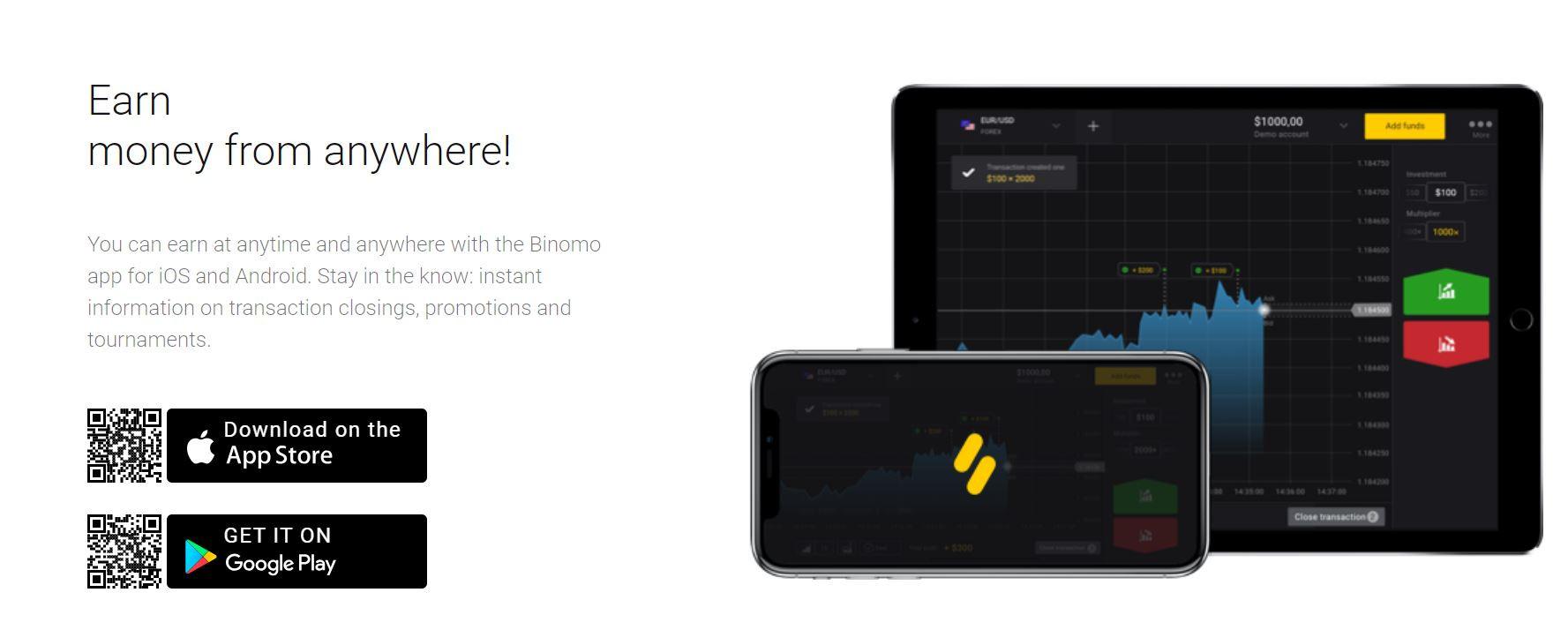 Download Binomo for PC