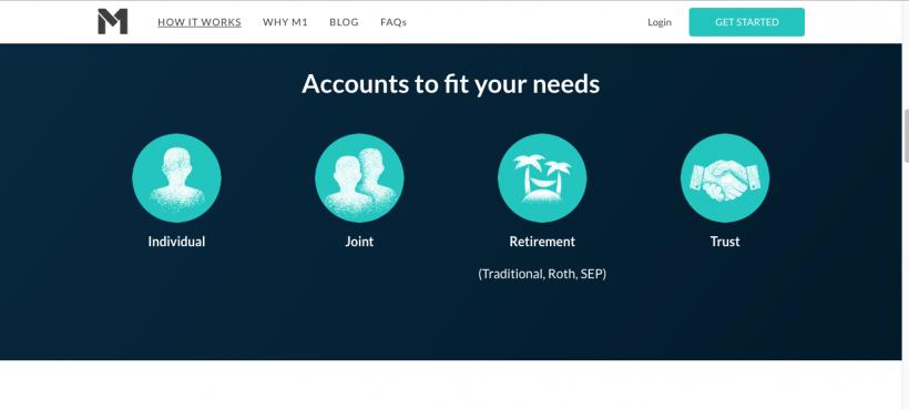 m1 finance account type