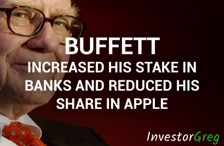 Buffett Increased His Stake in Banks and Reduced His Share in Apple