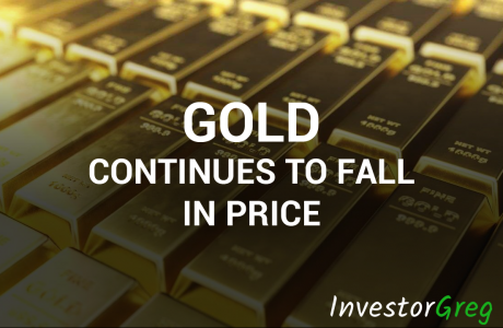 Gold Continues to Fall in Price on the USD Strengthening