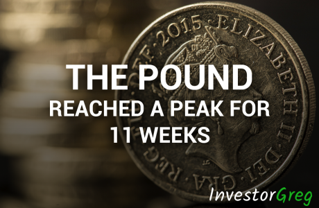 The British Pound Reached a Peak for 11 Weeks