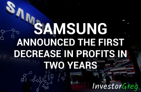 Samsung Announced the First Decrease in Profits in Two Years